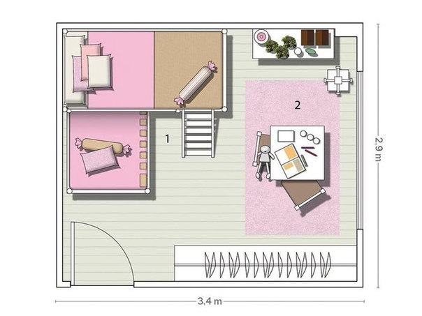 Дизайн планировки детской комнаты
